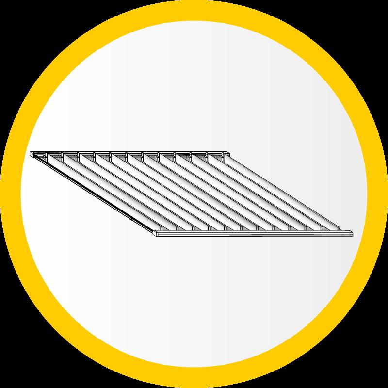Plafond-Lamellen